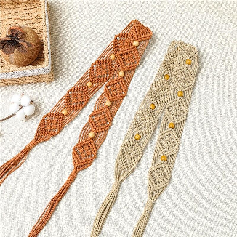 Lato nowy koreański woskowany sznur DIY tkactwo w stylu etnicznym pas moda kreatywny łańcuch talii