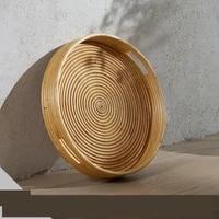 diameter 45cm rattan tray big plate storage plate home decor handcraft sundries organizer natural rattan eco friend