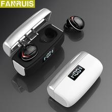 Hifi casque sans fil peut charger le téléphone écouteurs Bluetooth 5.0 étanche sport stéréo écouteurs casques avec Microphone