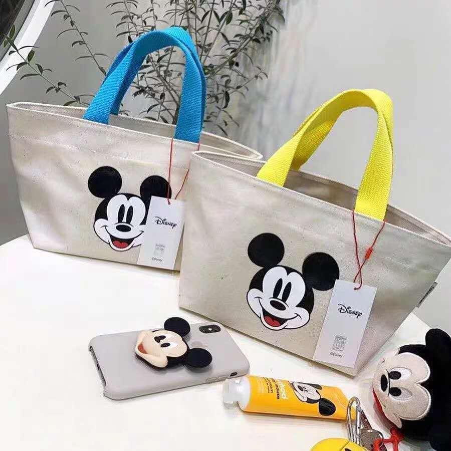 Disney cartoon Mickey mouse women  children's casual canvas bag ladies shoulder bag crossbody shopping bag  girls hand bags