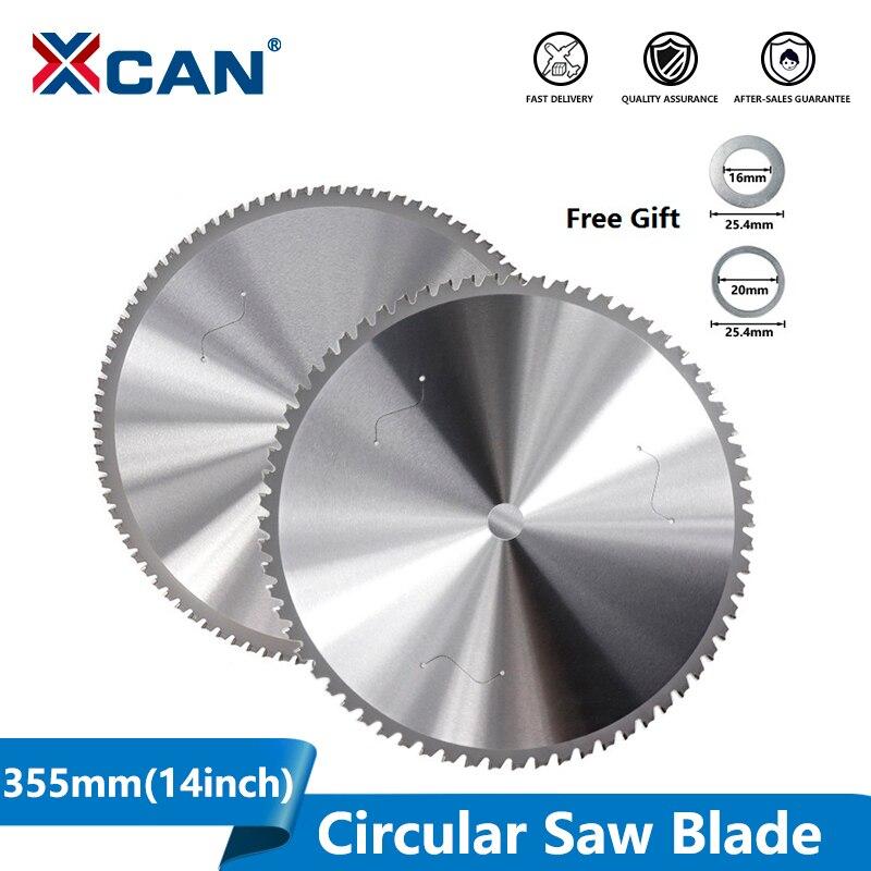 XCAN شفرة قاطعة معدنية 355 مللي متر (14 بوصة) 66/90 T شفرة منشار دائري لمعدن ألومنيوم حديد أسطوانة تقطيع نصل منشار من الكربيد