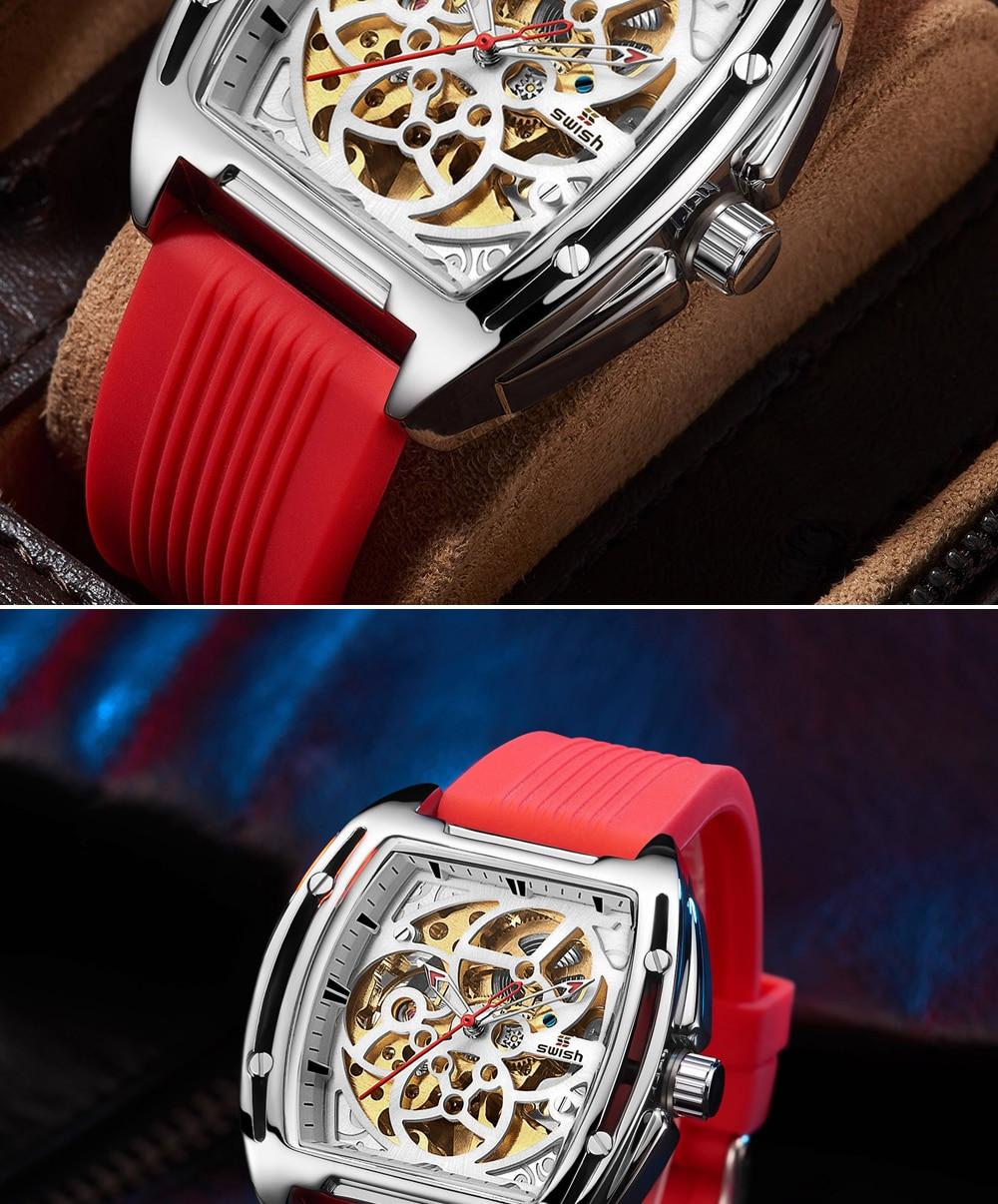H37bfb5994be14af2a0e056737770513cq SWISH Brand Design Luxury Men's Mechanical Wristwatch