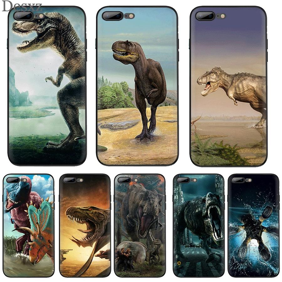 Caso do telefone móvel tpu para iphone 11 pro xr x xs max iphone 7 8 6s mais 5 5S se capa dinossauro