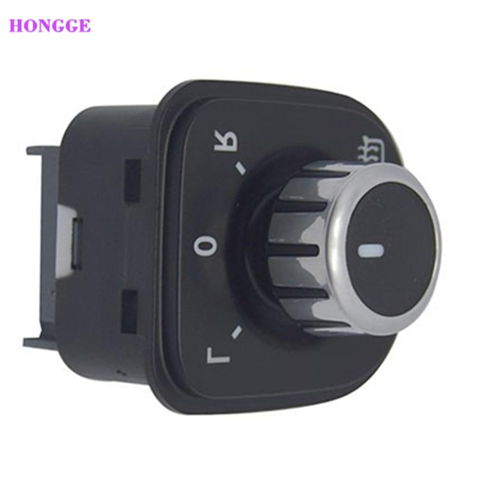 Interruptor de espejo retrovisor HONGGE, nuevo cromado, perilla de calefacción para Golf MK5 6 Passat B6 3C Rabbit 5ND 959 565 B