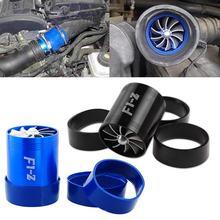 75X64mm evrensel araba hava filtresi emme Fan çift pervaneler yakıt tasarrufu Supercharger türbin Turbo şarj