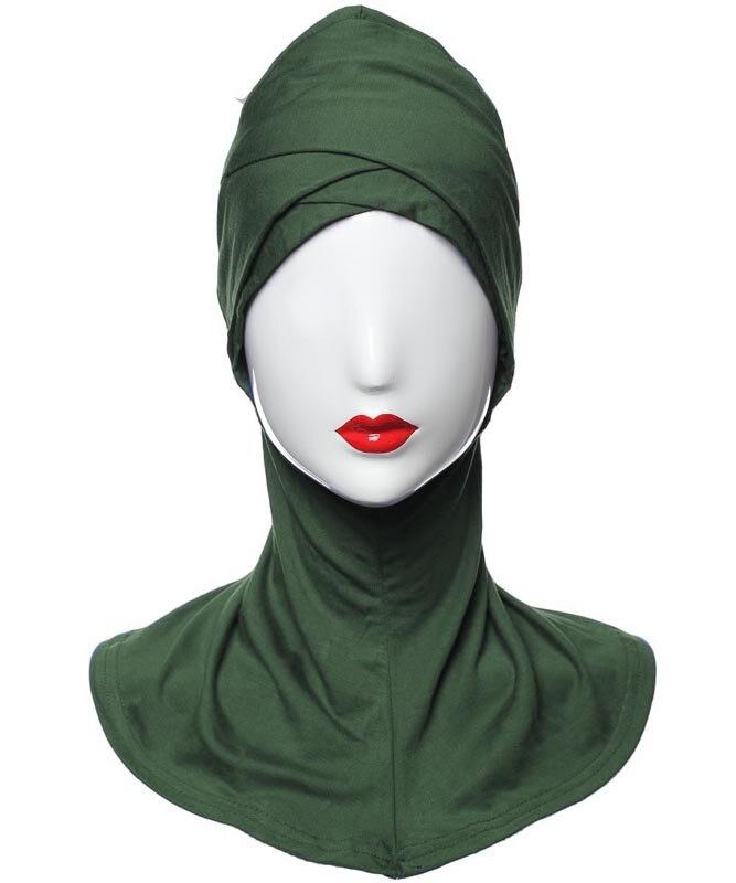 1 capa completa interior cruz hijab caps muçulmano turbante chapéu feminino islâmico underscarf bonnet sólido modal pescoço cabeça sob hijab cagoule