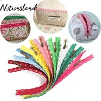 10 pcs 3 203050cm nylon multicolor smooth pendant lace zippers for bags clothes decoration diy sewing tailoring accessories