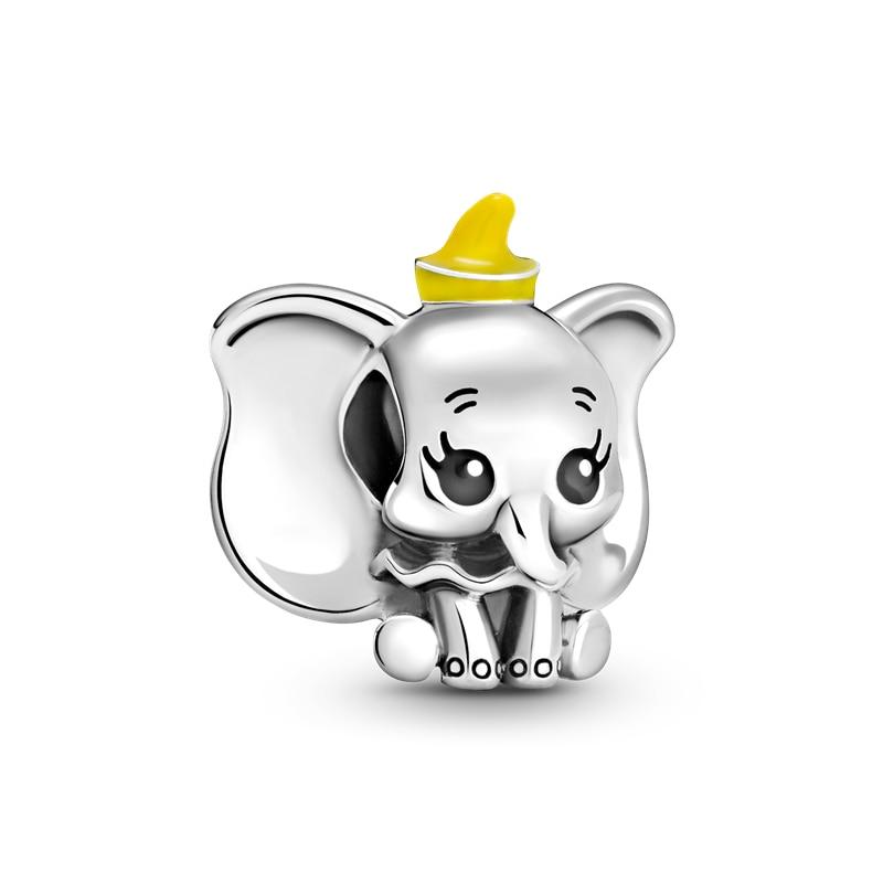 Бусины-подвески-из-серебра-2021-пробы-подвески-в-виде-маленького-милого-слона-подходят-для-оригинального-браслета-pandora-серебро-100-пробы-юве