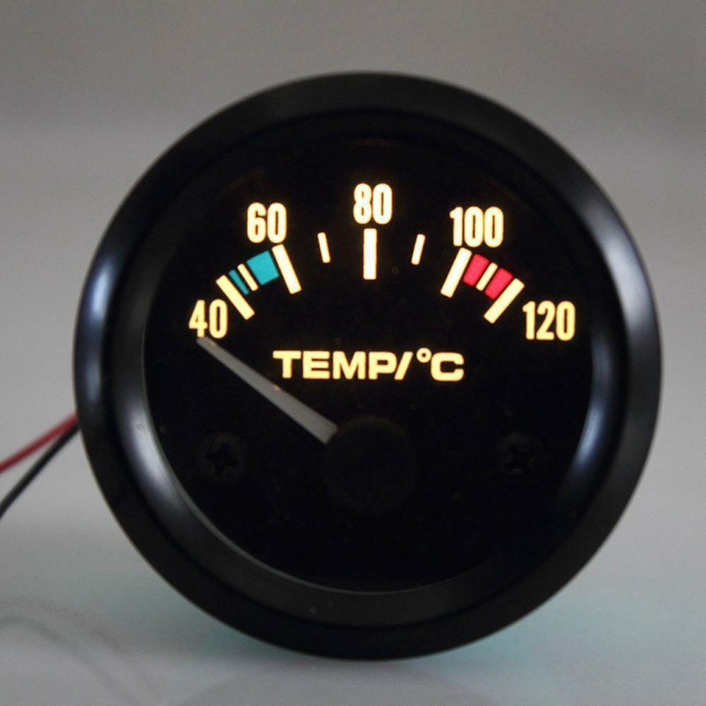"""2 """"calibre de temperatura da água do carro de digitas de 52mm 40-120"""" medidor de temperatura universal da água do carro do diodo emissor de luz"""