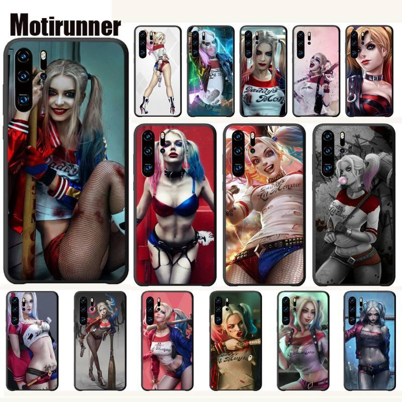 Funda de teléfono de lujo para escuadrón suicida, Harley Quinn, Joker, funda para Huawei P20, P30, P40 Lite, P20, P30, P40 Pro, P Smart Z 2019, funda