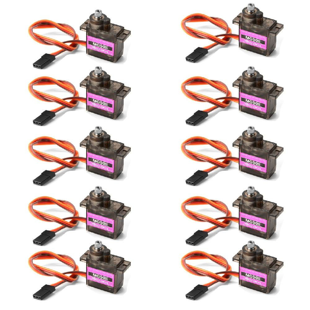 4/5/10/20 pcs/lot MG90S Metal gear Digital 9g Servo SG90 For Rc Helicopter Plane Boat Car MG90 9G Tr