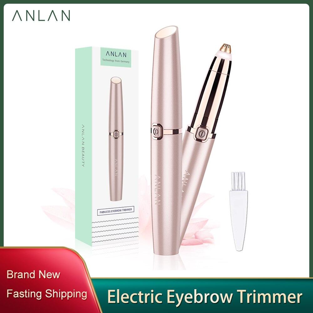 Depiladora portátil para cejas, lápiz de maquillaje para cejas, removedor de pelo, afeitadora instantánea sin dolor