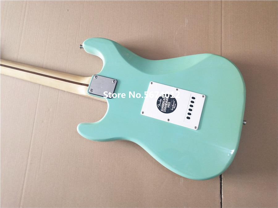 China guitar factory customized 2020 new green maple fingerboard electric guitar free delivery enlarge