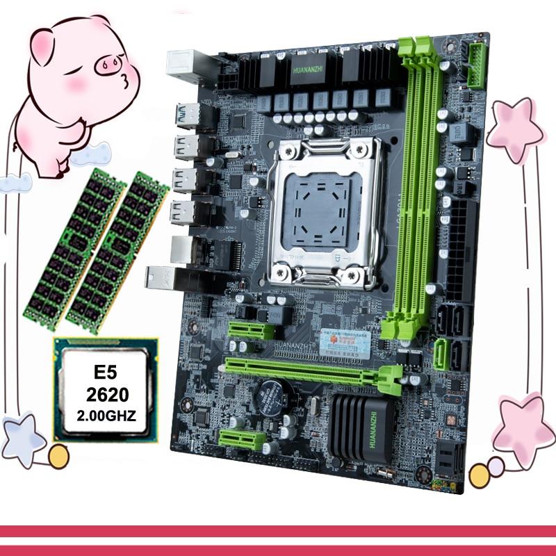 HUANANZHI X79 6M micro ATX placa base, CPU RAM, descuento combinado, placa base X79 con CPU Intel Xeon E5 2620 RAM 32G(2*16G) REG ECC