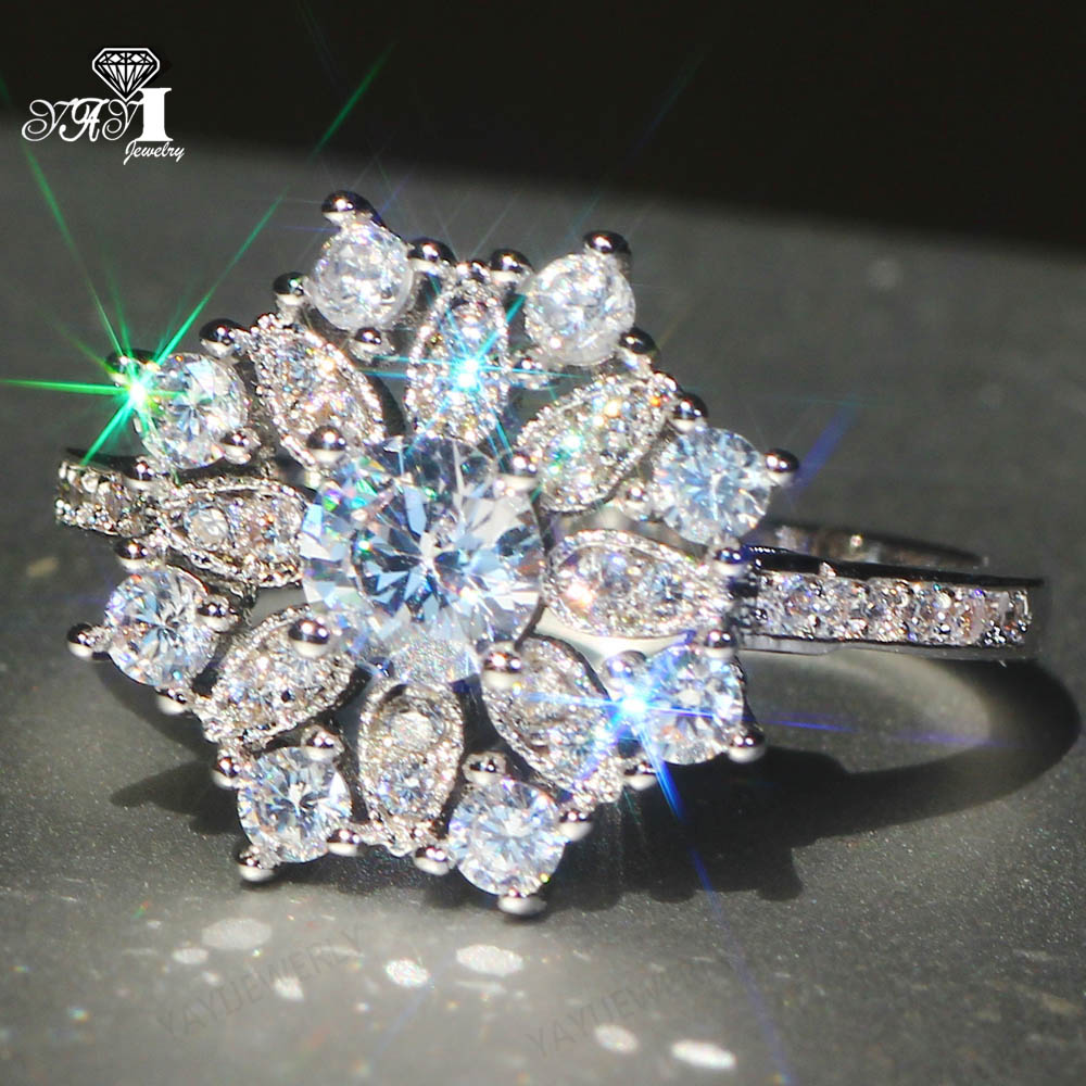 Joyería Yayi princesa corte 4.3CT blanco relleno de plata circonita anillos de corazón para boda anillo de chicas del Día de San Valentín 1096