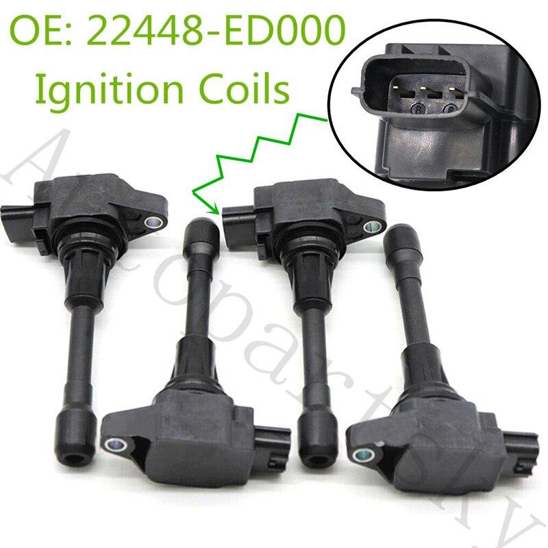 Bobinas de encendido para Nissan Altima Sentra cubo Rogue viceversa Infiniti FX50 UF549 UF-549 1788369 22448-JA00A 22448ED000 22448-ED000