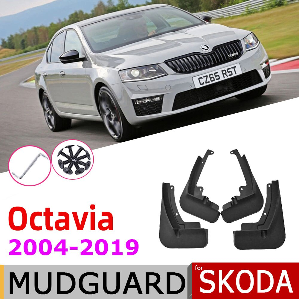 Mudguards For Skoda Octavia A5 A7 1Z 5E MK2 MK3 2019~2004 Fender Mud Guard Splash Flap Accessories 2018 2015 2013 2010 2006 2005