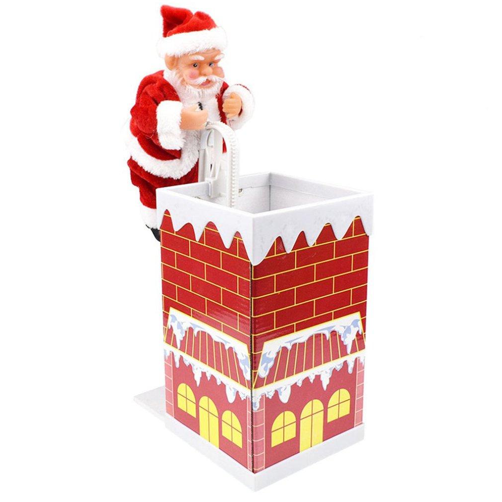 Санта-Клаус, подъемная кукла, электрическая игрушка с музыкой, детские рождественские подарки для детей, новогодние подарки, украшение