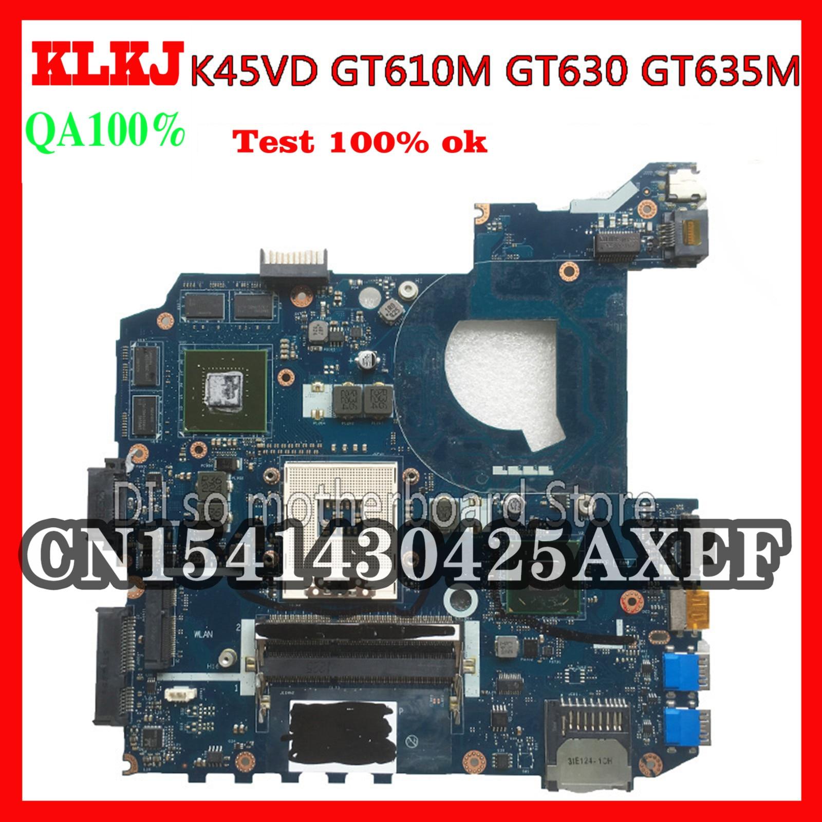KLKJ LA-8221P ل ASUS K45VJ K45VD A45V A85V K45VS K45VM اللوحة LA-8221P GT630M/610M/635M اللوحة اختبار