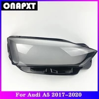 front headlight cover replacement for audi a5 car plexiglass head light lampshade lamp shell case transparent lens 2017 2020