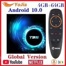 Nouveau Android 10.0 TV Box Android 10 MAX 4GB RAM 64GB ROM Allwinner H616 Quad Core 6K Wifi T95 lecteur multimédia décodeur Youtube