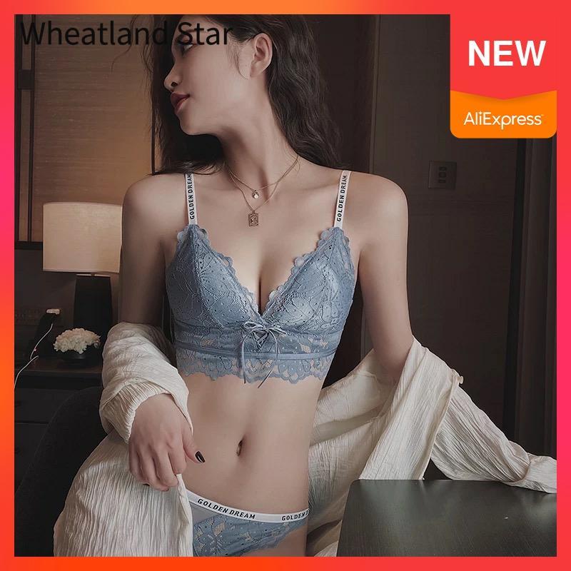 Lace Bralette Set Unlined Wireless Brassiere Underwear Women Set Sexy Intimates Lingerie Feminina Women Lingere Bra & Brief Sets