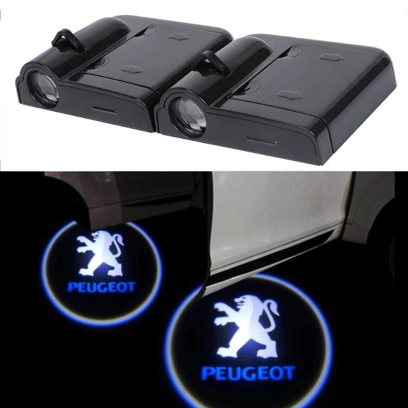 LED puerta coche Bienvenido luz Logo Peugeot 301, 207, 103, 307, 308, 407, 408, 507, 508, 3008, 4008, 5008