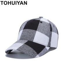 Casquette de Baseball à carreaux de marque femmes mode Gorras chapeau de soleil os Masculino casquettes de relance casquette de camionneur Hip Hop pour hommes livraison directe