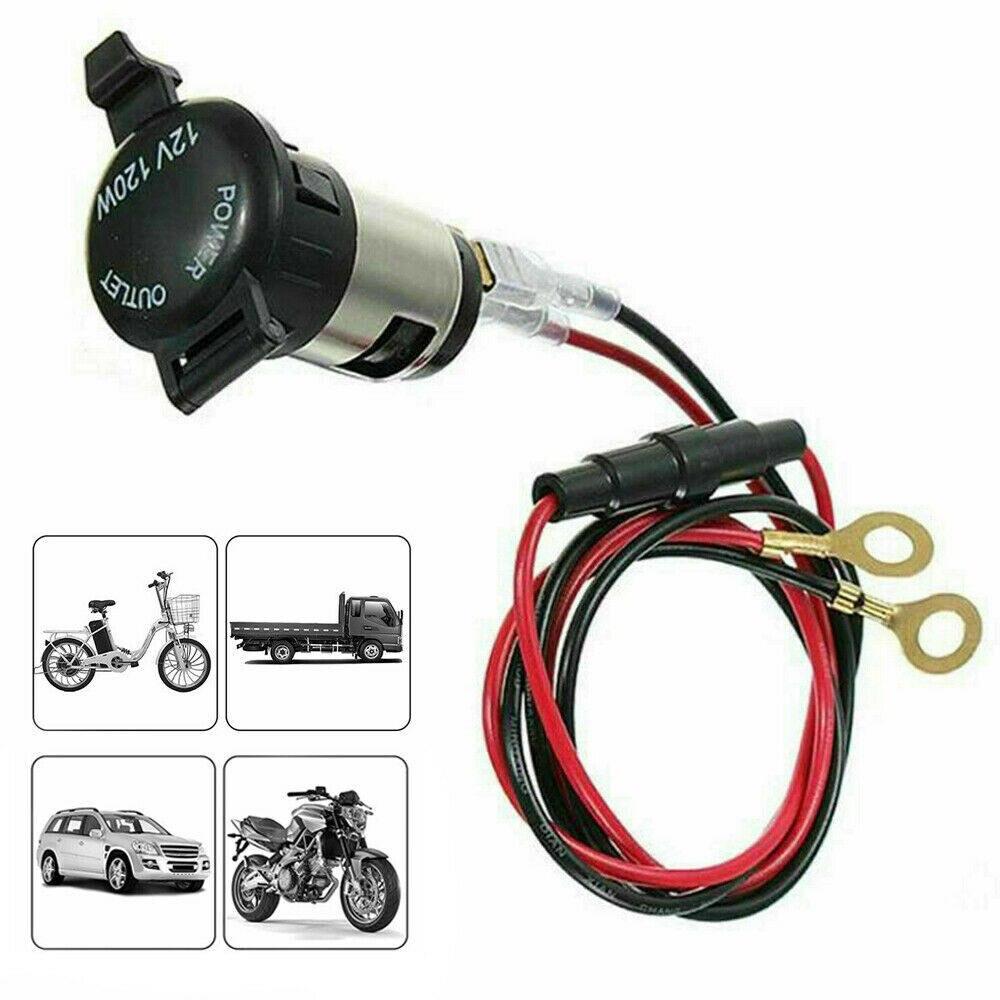 12-24v Usb enchufe de encendedor de coche impermeable encendedor de cigarrillos soporte de cargador con cable de 60cm equipo eléctrico