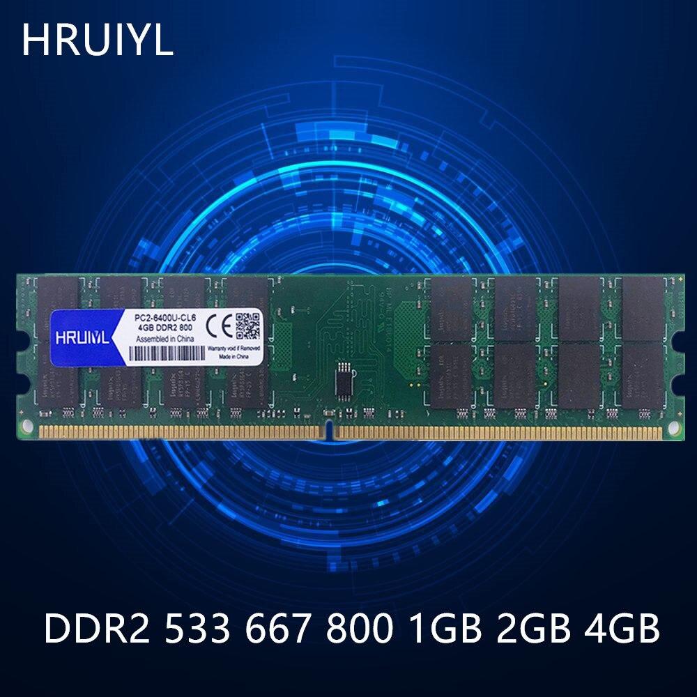 Memoria de escritorio HRUIYL DDR2 1GB 2GB 4GB 1,8 V Memoria de doble canal 533 667 800MHZ PC2-4200 5300 6400 PC
