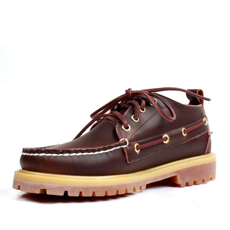 Heren Casual Lederen Docksides Dek Lace Up Moccain Boot Loafers Schoenen Rijden Schoenen Unisex Mocassins Engeland Flats