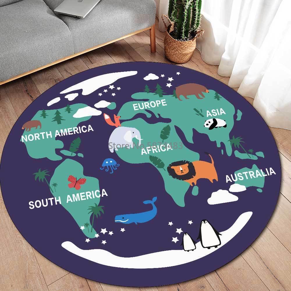 200 سنتيمتر الكرتون موضة الأزرق الأرض العالم الحيوان غرفة المعيشة غرفة نوم سلة معلقة كرسي دائري الطابق حصيرة السجاد التخصيص
