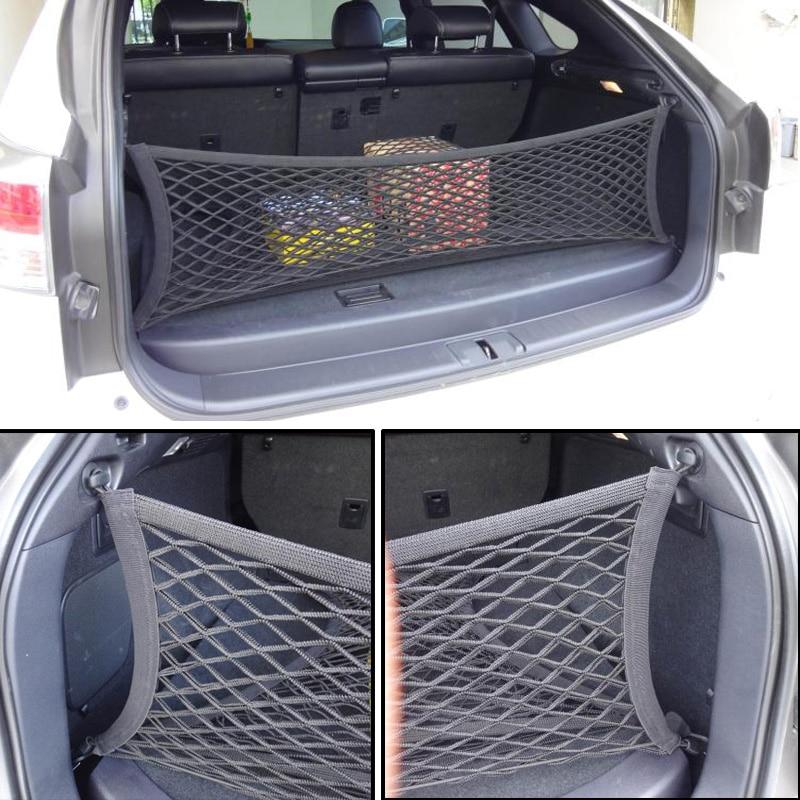 Fit For Kia Sportage Sorento Envelope Rear Trunk Cargo Net Hook Mesh Elastic Luggage Car Accessories 90*30cm