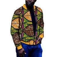 African Men Jackets Coats Plus Size Men African Clothing Windbreaker Outerwear Coats Zipper Traditional Print Wax Tops WYN383