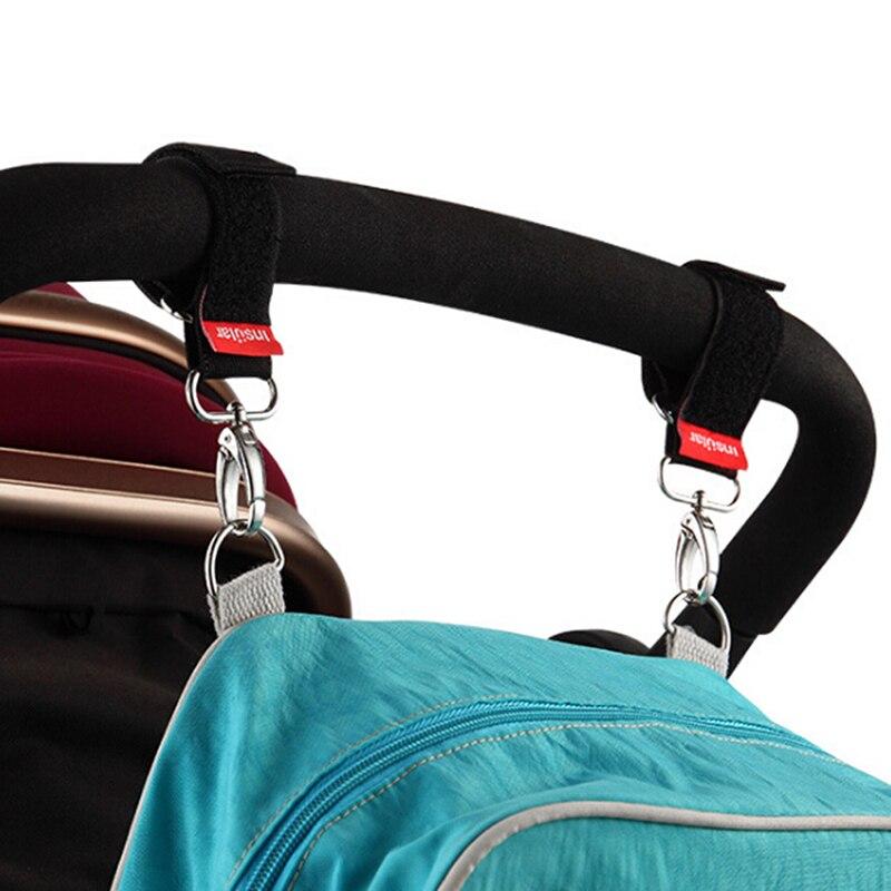 2 PCS Baby Stroller Hanger Straps Hanger Hook Baby Pushchair Buggy Hanging Strap baby infant stroller accessories