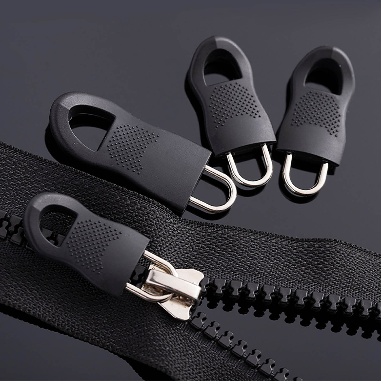 3PC Universal Detachable Zipper Puller Set for Down Jackets and Bags Zipper Head DIY Sewing Instant