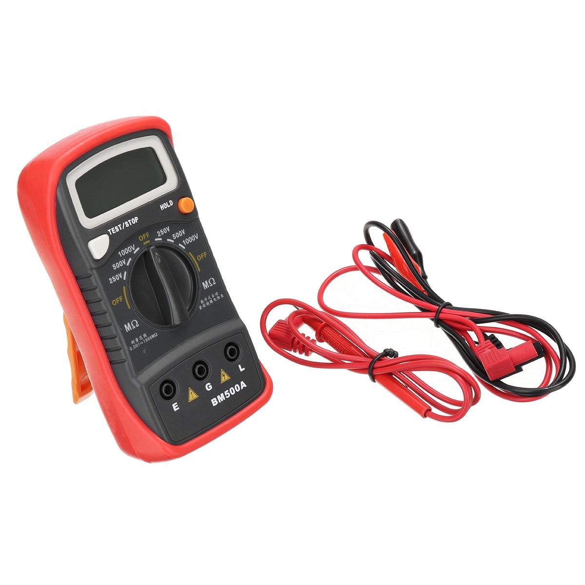 1000V BM500A Handheld Digital LCD Resistance Tester High Accuracy Insulation Resistance Testing Meter Megohmmeter Megger потолочный светодиодный светильник omnilux oml 48807 48