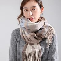 winter 100 pure wool scarf women plaid wool scarves thicken shawl and wrap warm cashmere scarves echarpe pashmina foulard