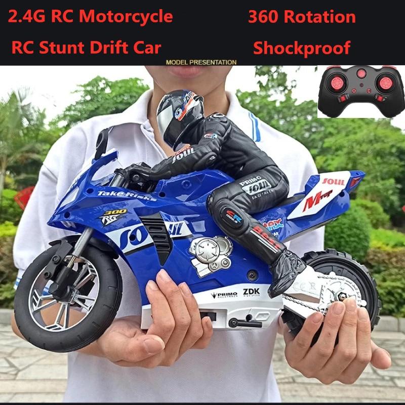 2.4G High Speed RC Stunt Motorbike 360 degree Rotation Stunt Drift Car Shockproof  Auto Balance Racing Motorbike RC  Motorcycle