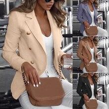 Button Autumn Slim Fit Blazers Jacket Long-sleeved Blaiser Feminino Chaqueta Mujer Plus Size 4XL 5XL
