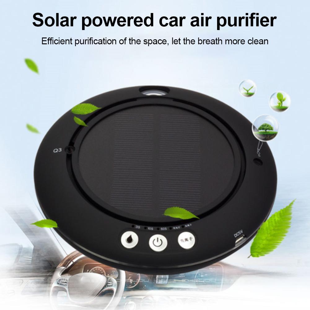 Purificador de aire Solar para coche, filtro compuesto de 3 capas, purifica el aire para eliminar los contaminantes gaseosos y mejorar el humidificador para la salud respiratoria