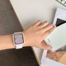 เรซิ่นนาฬิกาสำหรับ Apple Watch 6 5 4 Band 42Mm 38Mm Correa โปร่งใสนาฬิกา44Mm 40Mm iwatch 6 Series 5 4 3/2