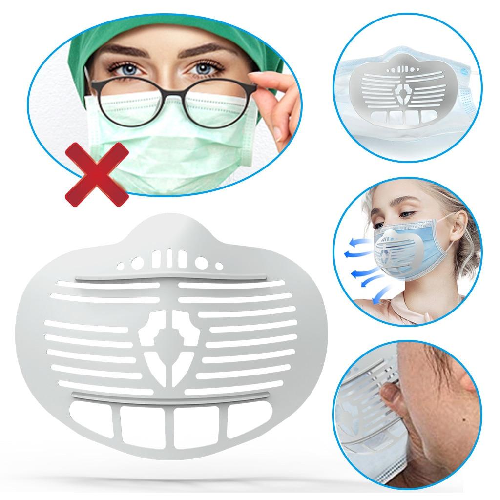 Soporte para mascarilla 3D, soporte para máscara de plástico, aumenta el espacio...
