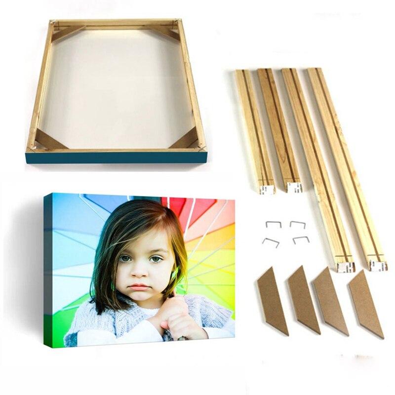 Marco de madera Natural para pintura en lienzo, marco de fotos de pared DIY, marco de póster, cuadros cornici para foto