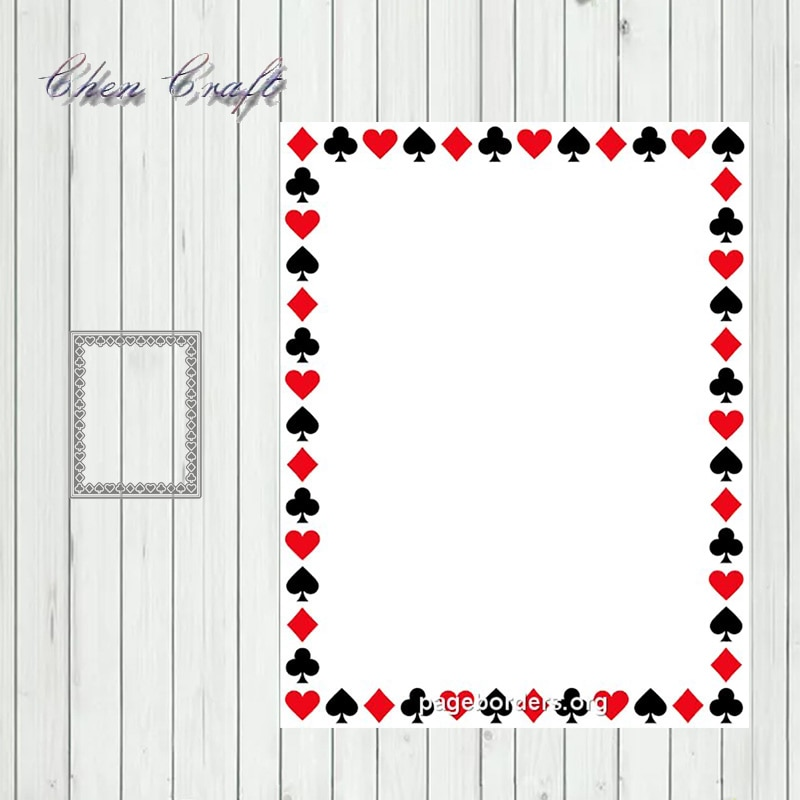 Metal Cutting Dies Poker suit rectangle border for DIY Scrapbooking Album Paper Cards Making Crafts 2020