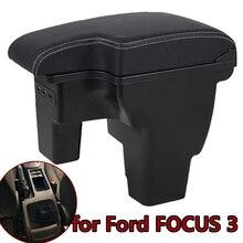 Dla Ford 17 FOCUS 3 Box podłokietnik samochodowy 2017 wewnętrzny podłokietnik wewnętrzny USB akumulator