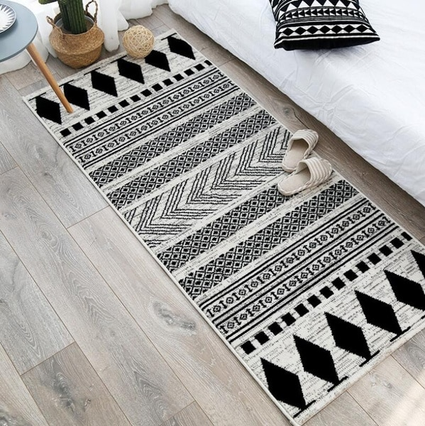 Moroccan Area Rugs Nordic Living Room Carpets Soft Flannel Bedroom Bedside Blanket Non-Slip Kitchen Door Mat Tatami Home Decor