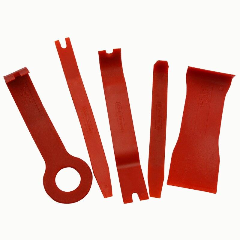 5 шт. набор инструментов для снятия автомобильной радиопанели внутренней двери зажим для панели обшивки приборной панели из твердого пласт...