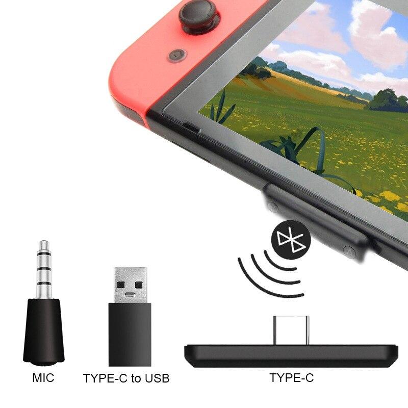 5,0 аудио передатчик USB Type-C аудио адаптер для NS Switch беспроводной аудио приемник адаптер для консоли PS3