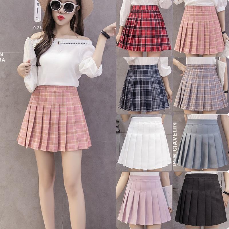 Pleated skirt short skirt women's summer autumn winter women's new skirt Korean high waist sexy A-line skirt